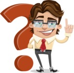 Entrepreneur Man Cartoon Vector Character AKA Clark Executive - Question