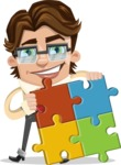 Entrepreneur Man Cartoon Vector Character AKA Clark Executive - Puzzle