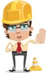 Entrepreneur Man Cartoon Vector Character AKA Clark Executive - Under Construction 1
