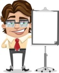 Entrepreneur Man Cartoon Vector Character AKA Clark Executive - Presentation 1