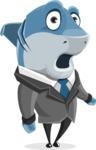 Shark Businessman Cartoon Vector Character AKA Sharky Razorsmile - Oops