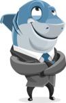 Shark Businessman Cartoon Vector Character AKA Sharky Razorsmile - Petient