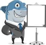 Shark Businessman Cartoon Vector Character AKA Sharky Razorsmile - Presentation 1