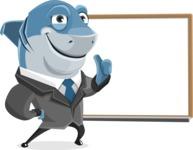 Shark Businessman Cartoon Vector Character AKA Sharky Razorsmile - Presentation 3
