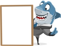 Shark Businessman Cartoon Vector Character AKA Sharky Razorsmile - Presentation 4