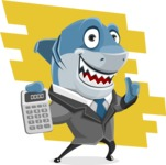 Shark Businessman Cartoon Vector Character AKA Sharky Razorsmile - Shape 9