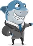 Shark Businessman Cartoon Vector Character AKA Sharky Razorsmile - Show 2