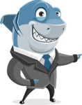 Shark Businessman Cartoon Vector Character AKA Sharky Razorsmile - Show