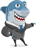 Shark Businessman Cartoon Vector Character AKA Sharky Razorsmile - Showcase 2