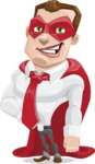 Business Hero Cartoon Vector Character AKA Corporate Steel - Normal