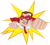 Business Hero Cartoon Vector Character AKA Corporate Steel - Shape1
