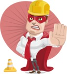 Business Hero Cartoon Vector Character AKA Corporate Steel - Shape7