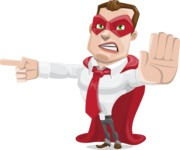 Business Hero Cartoon Vector Character AKA Corporate Steel - Direct Attention