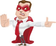 Business Hero Cartoon Vector Character AKA Corporate Steel - Direct Attention2
