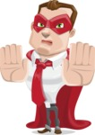 Business Hero Cartoon Vector Character AKA Corporate Steel - Stop2