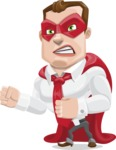 Business Hero Cartoon Vector Character AKA Corporate Steel - Angry