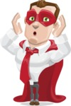 Business Hero Cartoon Vector Character AKA Corporate Steel - Shocked