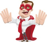 Business Hero Cartoon Vector Character AKA Corporate Steel - Hello