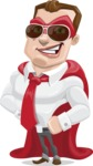 Business Hero Cartoon Vector Character AKA Corporate Steel - Sunglasses