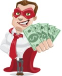 Business Hero Cartoon Vector Character AKA Corporate Steel - Show me the money