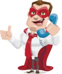 Business Hero Cartoon Vector Character AKA Corporate Steel - Support
