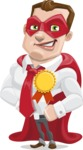 Business Hero Cartoon Vector Character AKA Corporate Steel - Ribbon