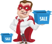 Business Hero Cartoon Vector Character AKA Corporate Steel - Sale