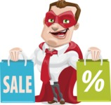 Business Hero Cartoon Vector Character AKA Corporate Steel - Sale2