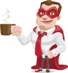 Business Hero Cartoon Vector Character AKA Corporate Steel - Coffee