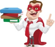 Business Hero Cartoon Vector Character AKA Corporate Steel - Book2