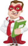 Business Hero Cartoon Vector Character AKA Corporate Steel - Book3