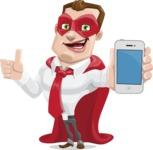 Business Hero Cartoon Vector Character AKA Corporate Steel - iPhone