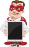 Business Hero Cartoon Vector Character AKA Corporate Steel - iPad1