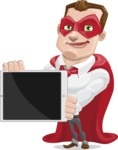 Business Hero Cartoon Vector Character AKA Corporate Steel - iPad2