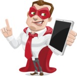 Business Hero Cartoon Vector Character AKA Corporate Steel - iPad3