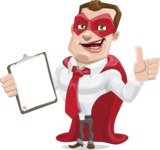 Business Hero Cartoon Vector Character AKA Corporate Steel - Notepad1