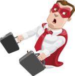 Business Hero Cartoon Vector Character AKA Corporate Steel - Briefcase3