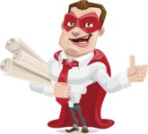 Business Hero Cartoon Vector Character AKA Corporate Steel - Plans