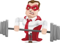 Business Hero Cartoon Vector Character AKA Corporate Steel - Fitness
