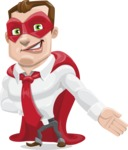Business Hero Cartoon Vector Character AKA Corporate Steel - Show