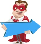 Business Hero Cartoon Vector Character AKA Corporate Steel - Pointer2