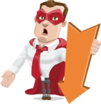 Business Hero Cartoon Vector Character AKA Corporate Steel - Pointer3