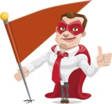 Business Hero Cartoon Vector Character AKA Corporate Steel - Checkpoint