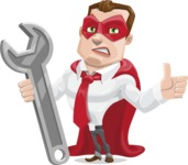 Business Hero Cartoon Vector Character AKA Corporate Steel - Repair