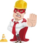 Business Hero Cartoon Vector Character AKA Corporate Steel - Under Construction1