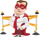 Business Hero Cartoon Vector Character AKA Corporate Steel - Under Construction