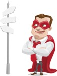 Business Hero Cartoon Vector Character AKA Corporate Steel - Crossroad