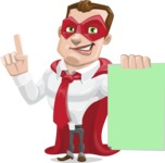 Business Hero Cartoon Vector Character AKA Corporate Steel - Sign2
