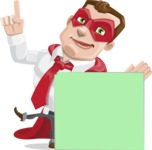 Business Hero Cartoon Vector Character AKA Corporate Steel - Sign7
