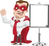 Business Hero Cartoon Vector Character AKA Corporate Steel - Presentation1